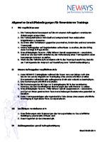 Vertragsbedingungen interne Trainings